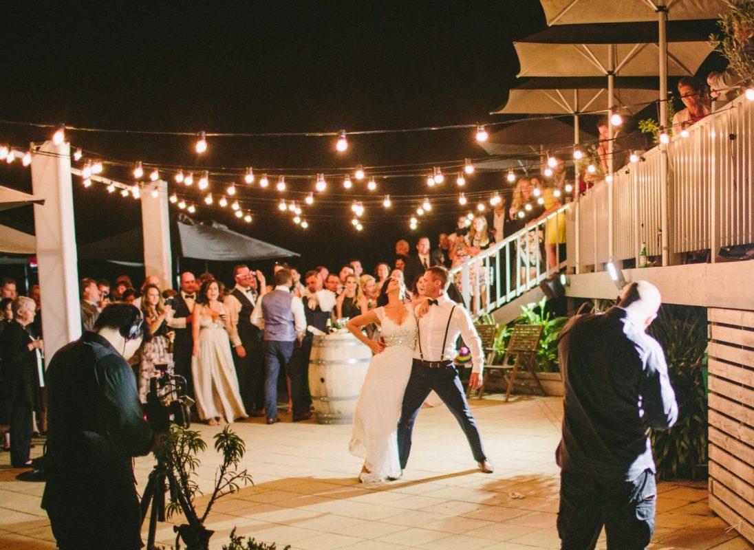 Festoon lights hire wedding