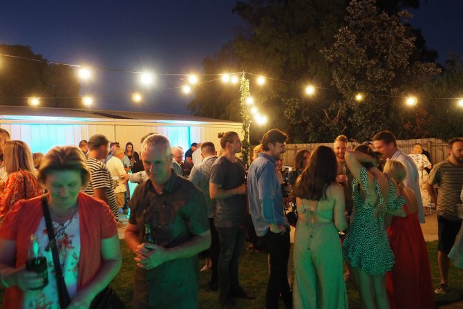 festoon light setup in backyard for hire in melbourne