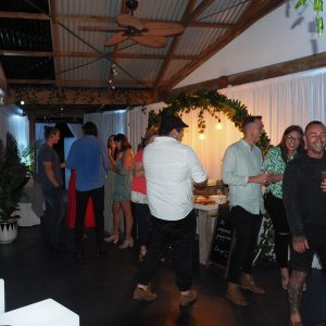 white draping and green styling products for hire in outdoor space melbourne