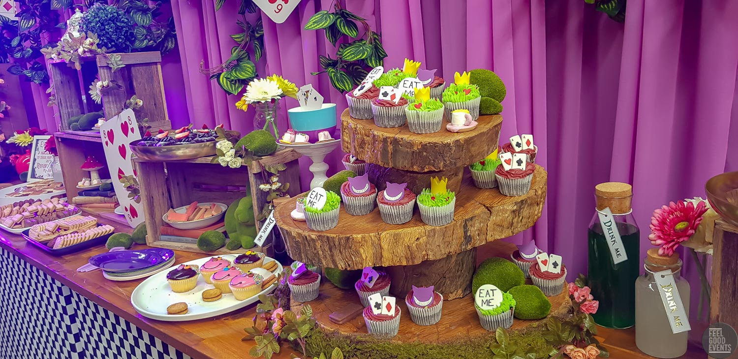 Alice in wonderland buffet table hire melbourne