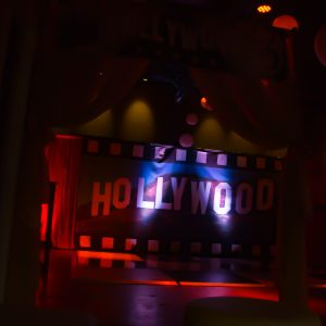 Dark Hollywood themed backdrop