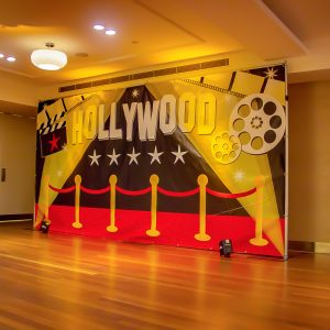 Hollywood Red Carpet Backdrop with uplighting