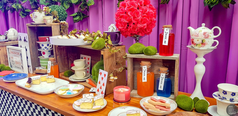 alice in wonderland food buffet table idea hire melbourne