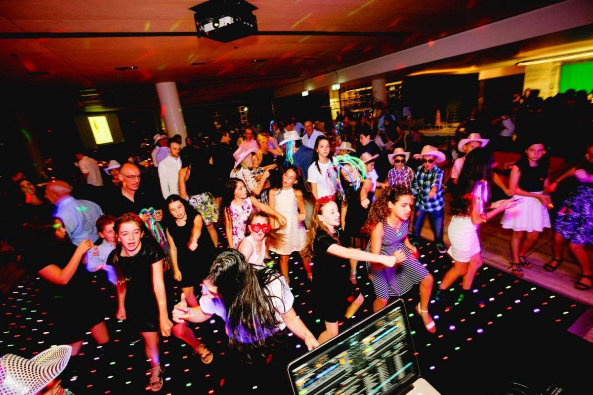 Bat mitzvah dance floor hire