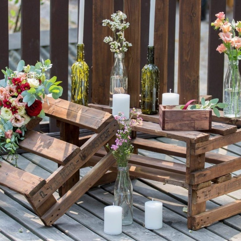 wedding decor - rustic wooden products hire