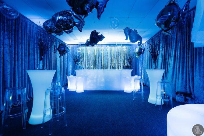 Bar Setup for Blue Underwater Event Hire Melbourne