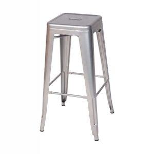 Tall Silver Bar Table