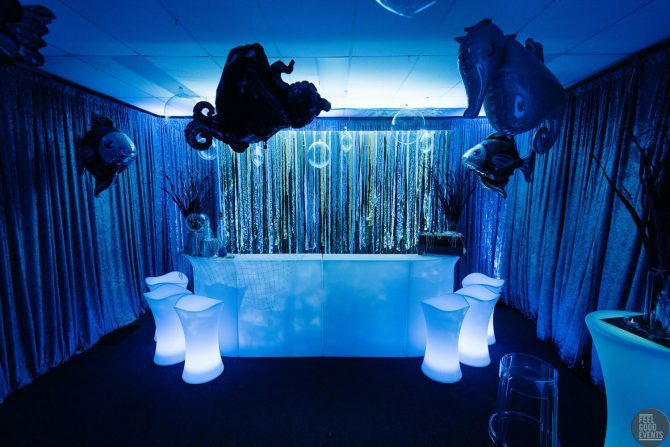 Blue and Under The Sea Bar Hire Inspo Melbourne