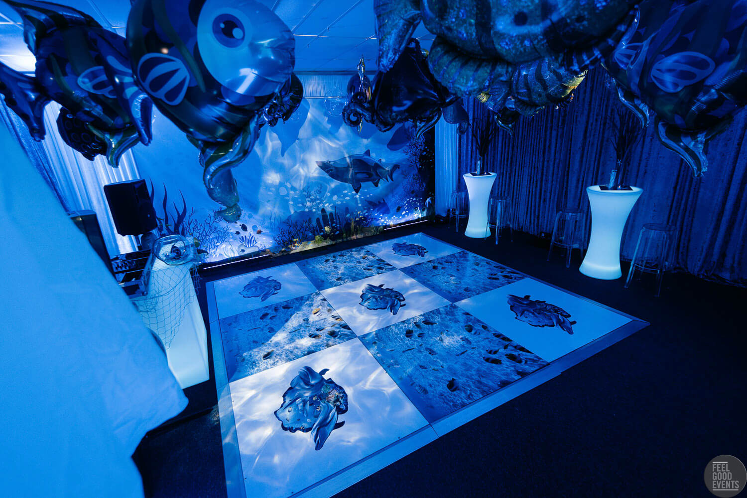 Dance Floor Hire In Under The Sea Themed Event Melbourne