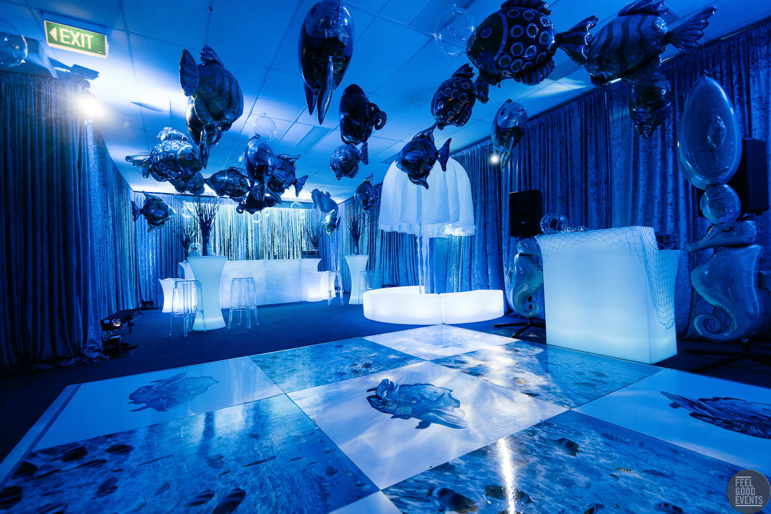 Event Space Makeover with Underwater props Hire Melbourne