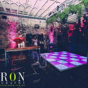Pink Illuminated Dance Floor