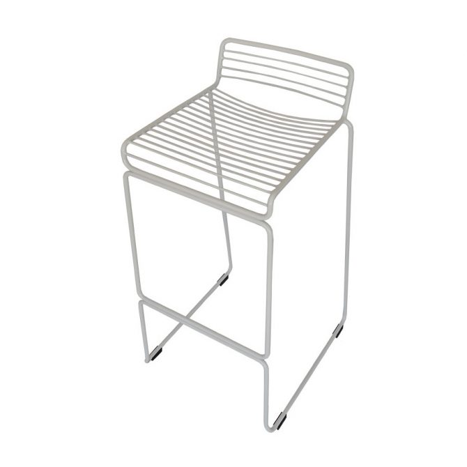 Wire Stool Hire Melbourne White Angled Pic