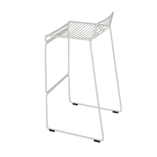 Wire Stool Hire Melbourne White Side Pic