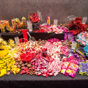 Candy buffet at Jenna's batmitzvah melbourne