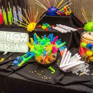 Glow Toys at Jenna's glow themed batmitzvah
