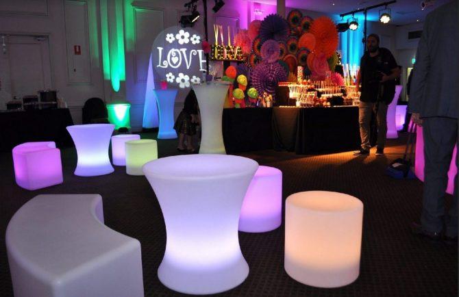 Groovy Bat Mitzvah - Colourful - Illuminated Furniture