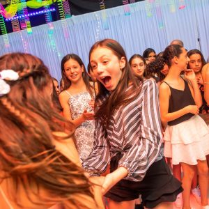 bat mitzvah celebration with white draping hire melbourne