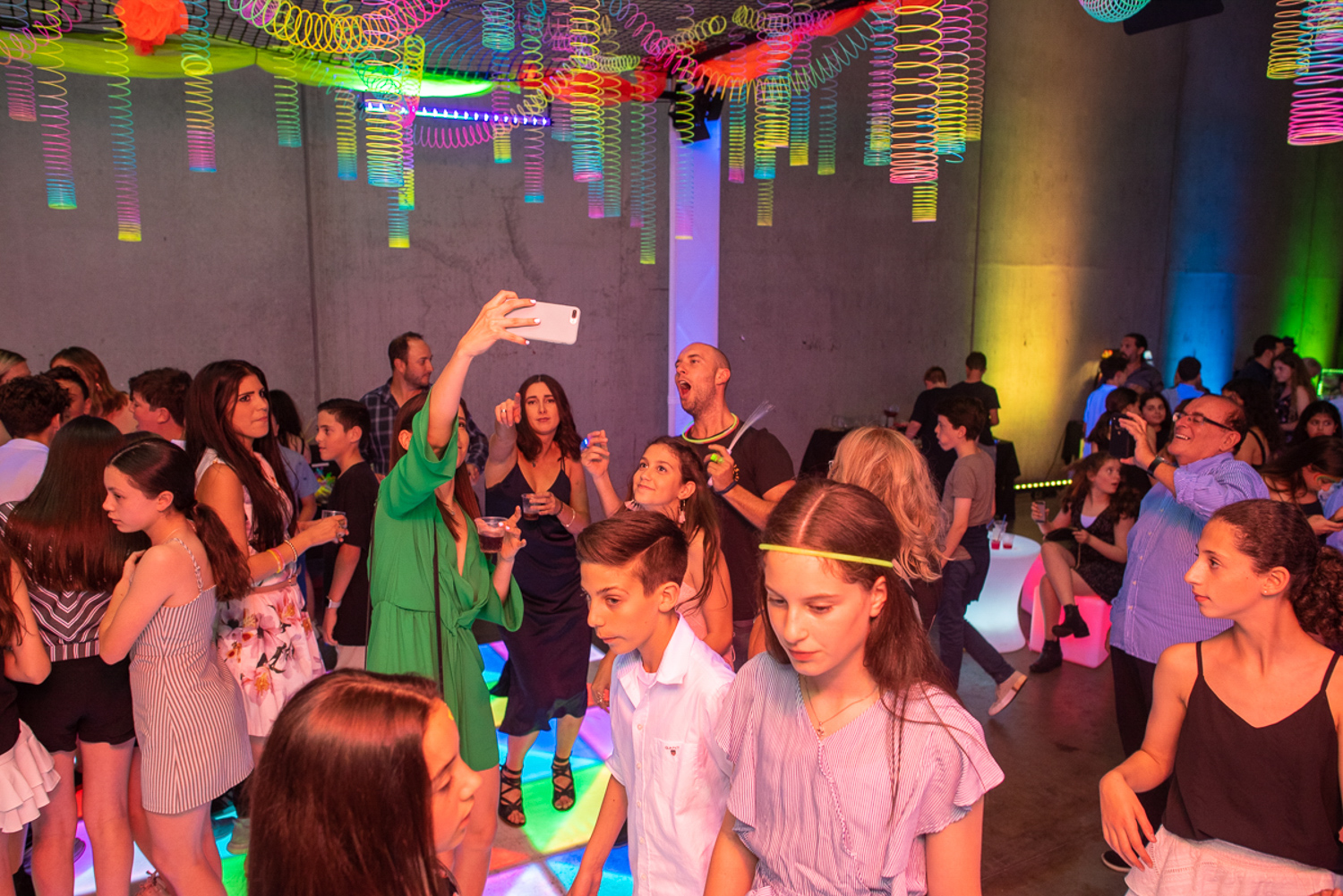 colourful party setup in melbourne