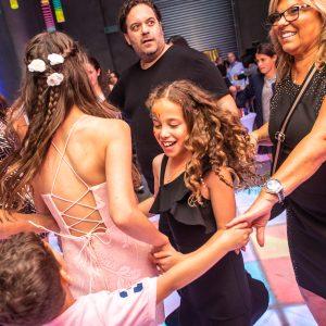glowing dance floor hire at jennas bat mitzvah melbourne