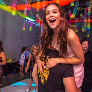jenna having fun during her bat mitzvah melbourne