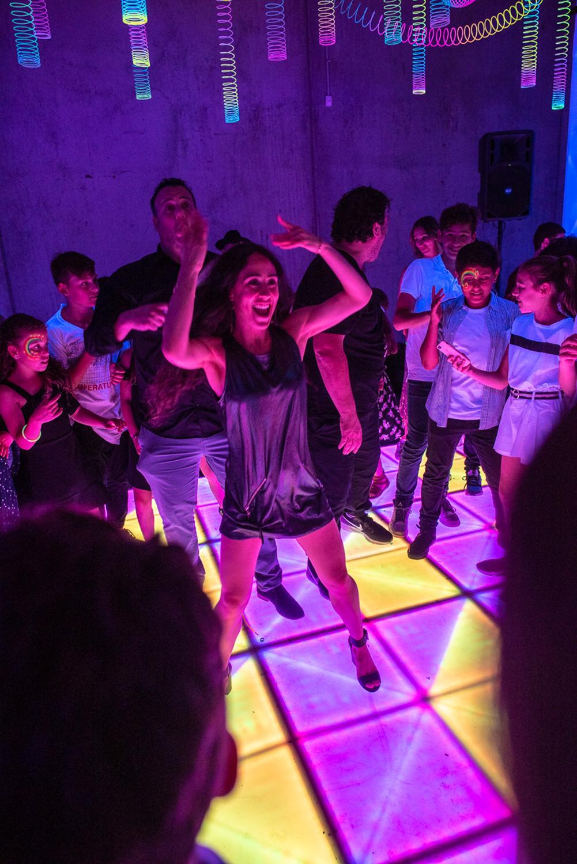 led dancefloor in action during a bat mitzvah melbourne