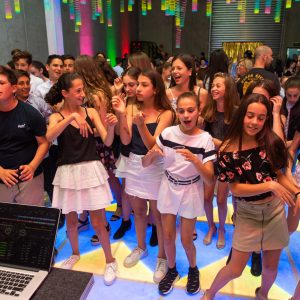 light up dance floor hire melbourne during jenna's bat mitzvah