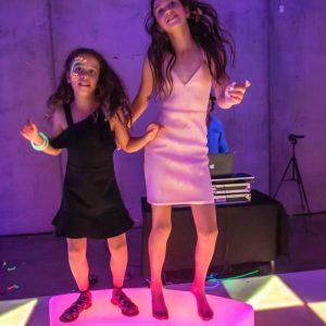 light up furniture on a light up dancefloor during bat mitzvah in melbourne