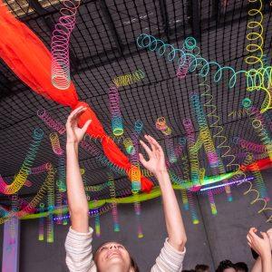 slinky arrangement above dance floor hire melbourne