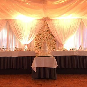 Wedding Bridal Table Backdrops
