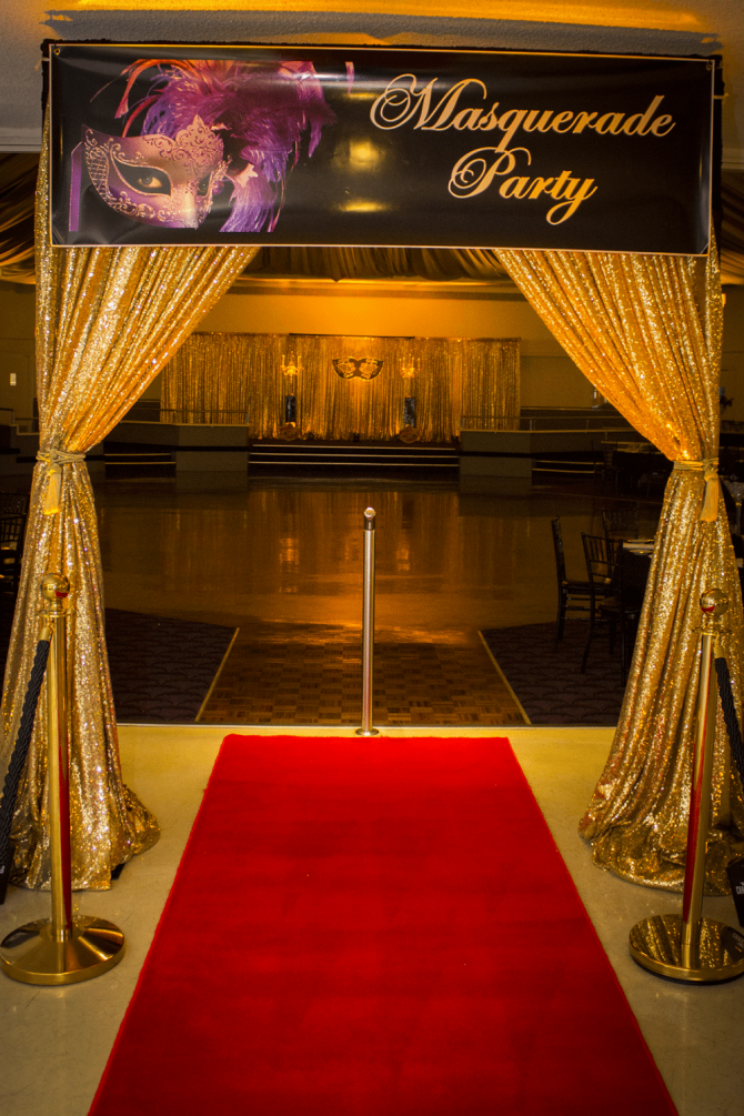 Entrance Banner - Masquerade Party