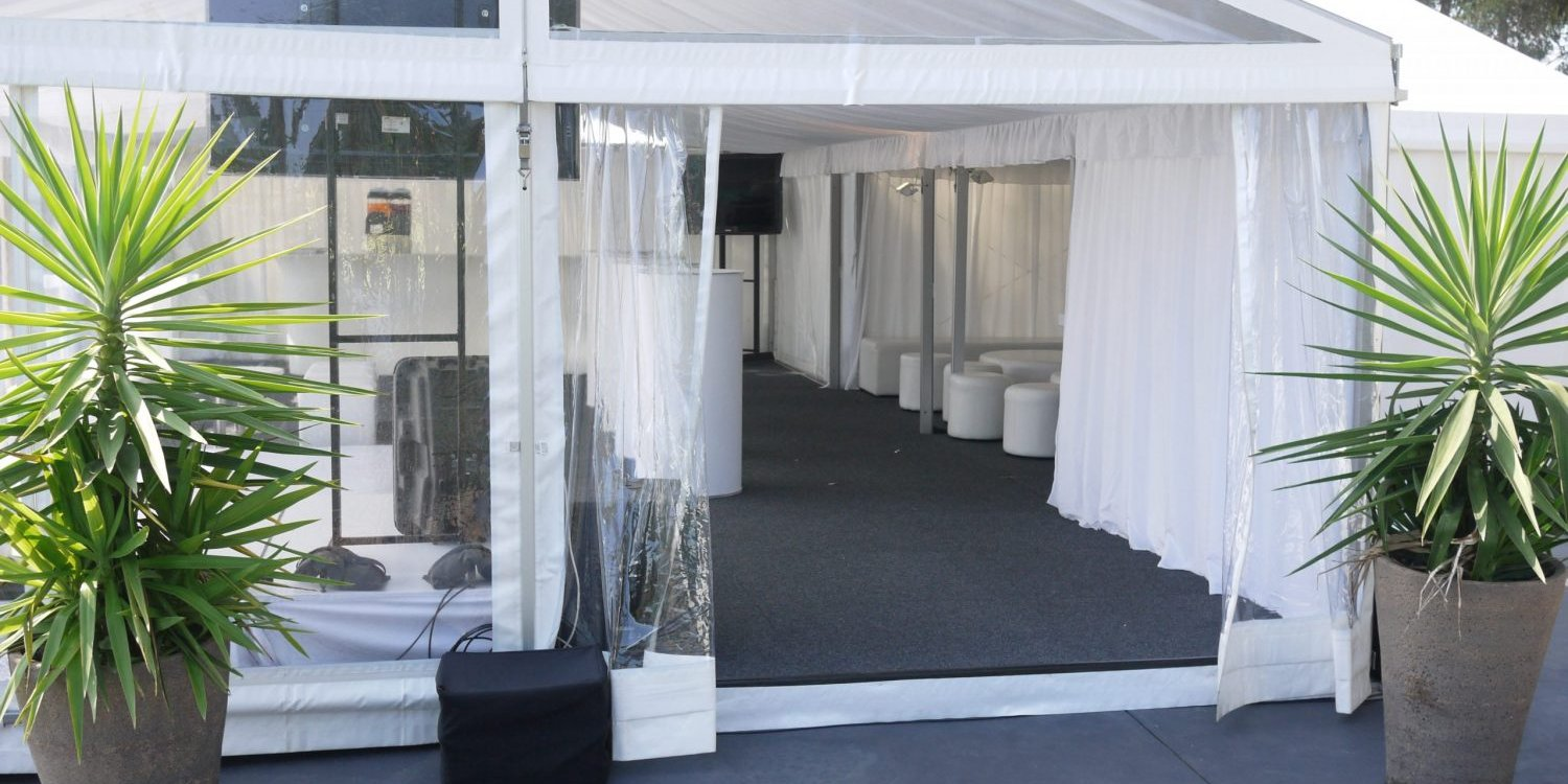 ClearSpan structure Marquee hire