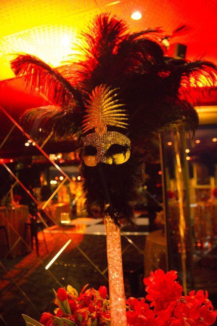 Masquerade Centrepiece Vase Hire Feel Good Events