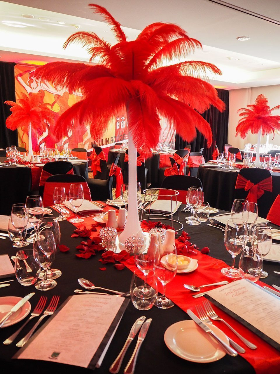 Red Feather Centrepiec...Ostrich Feathers For Sale