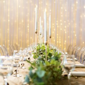 fairy light backdrop at wedding hire melbourne