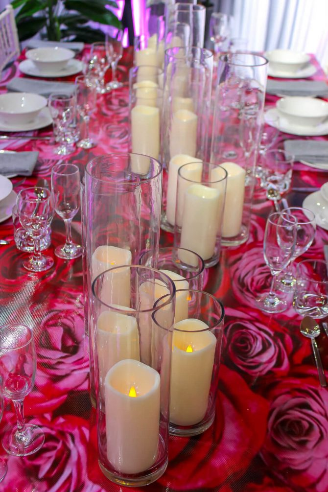 Candles in Vases Hire Melbourne 2
