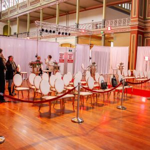 Draping at bridal expo melbourne 1