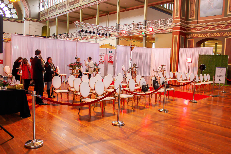 Draping at bridal expo melbourne 1