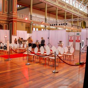 Draping at bridal expo melbourne 2