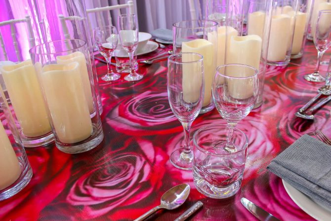 Flower Covered Dining Table Hire 2