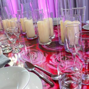 Glassware Hire Flower Decal Hire Melbourne