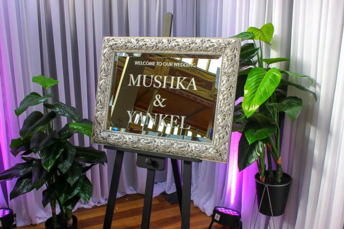 Wedding Mirror Hire Melbourne Uplighting
