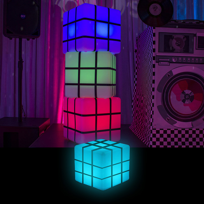 led rubix cubes