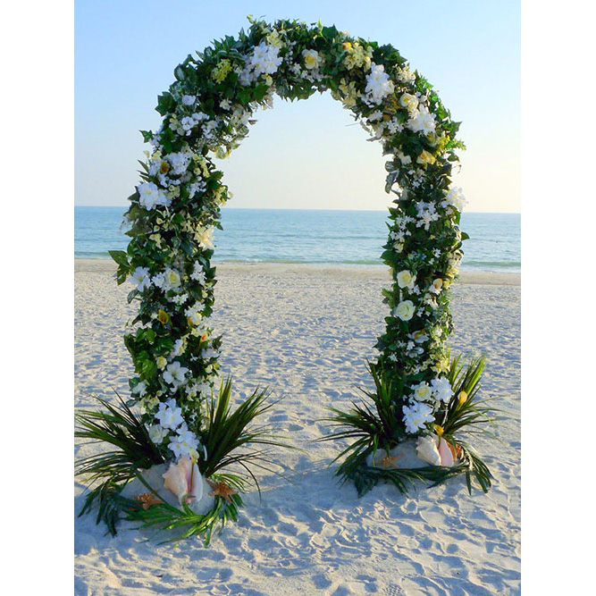 Outdoor Wedding Arch: U Shaped Wedding Arch Hire