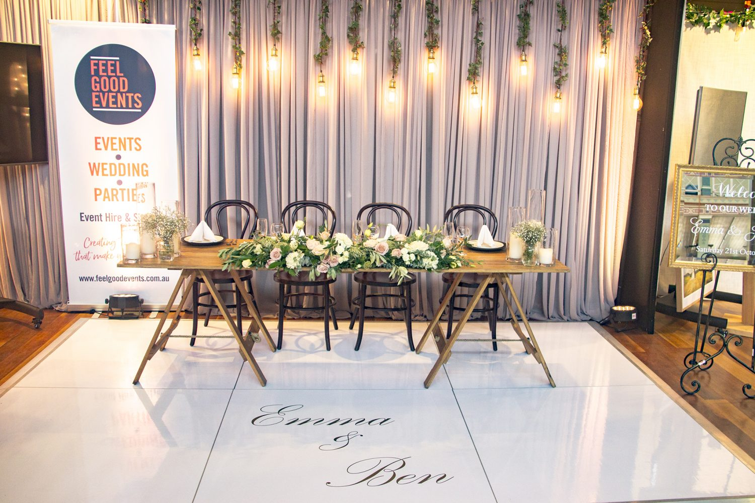 Wooden Dining Table Feel Good Events Melbourne