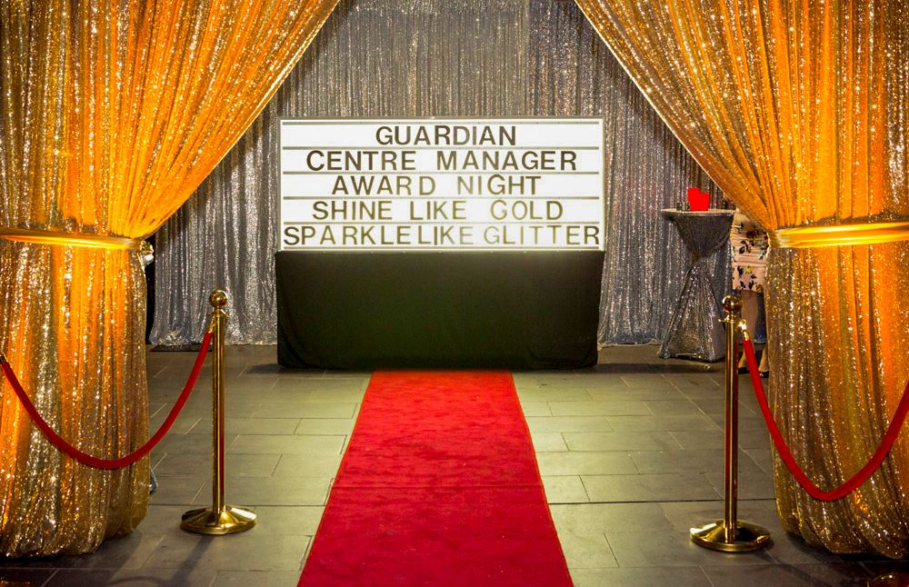 Gold and silver Sequin drape hire