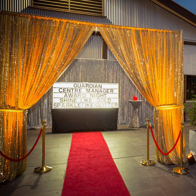 Sequin Drape Hire Melbourne