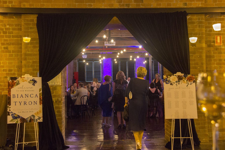 Wedding Entrance Black Velvet Drape 1