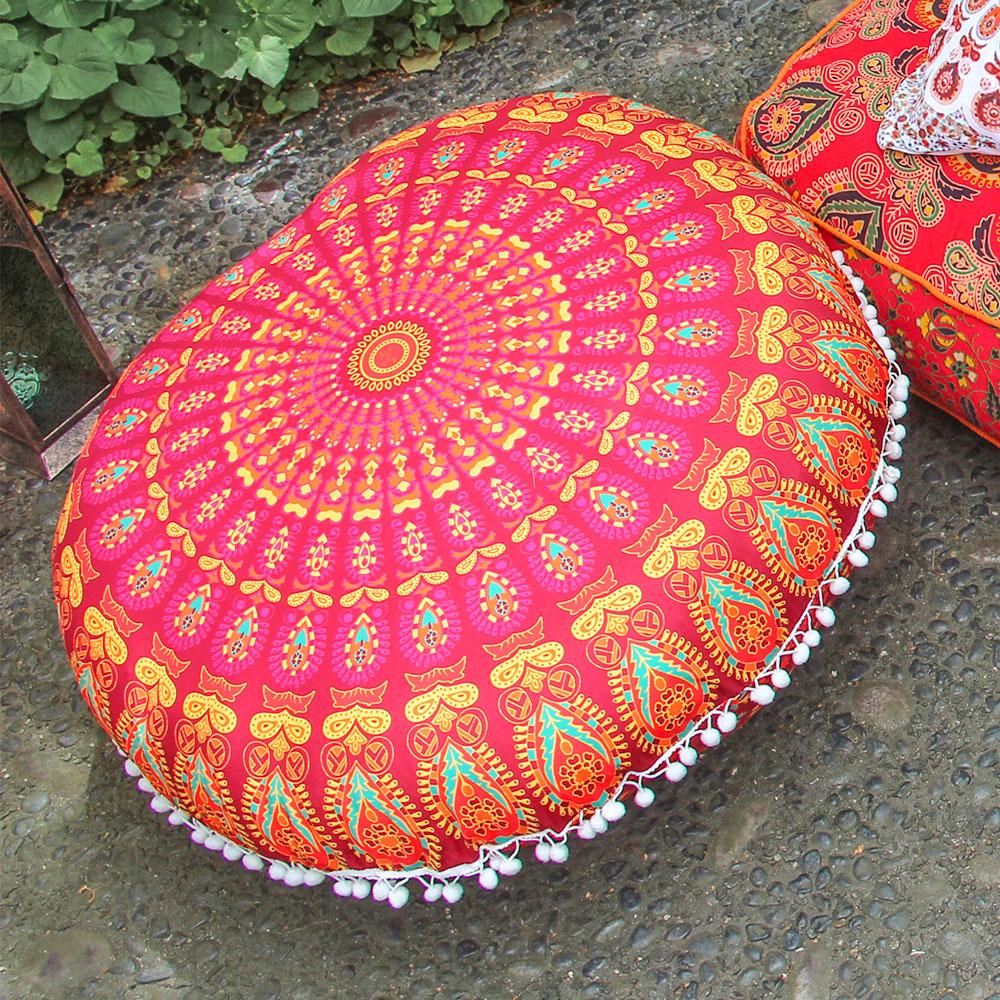 Mandala Round Floor Pillow