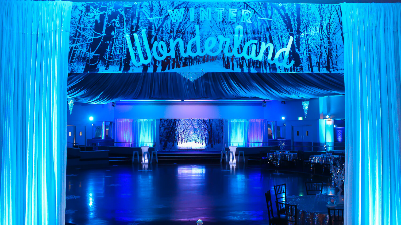 Blue Uplighting With Winter Wonderland Theme 2