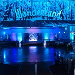 Blue Uplighting With Winter Wonderland Theme 3